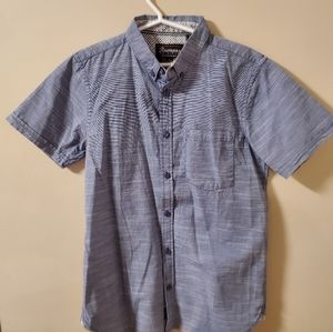 rumors original | Blue button down shirt